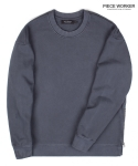 피스워커() Vintage heavy sweat shirt side Jipper - Charcoal