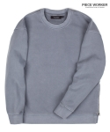 피스워커() Vintage heavy sweat shirt side Jipper - Grey