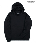 피스워커() Heavy hoodie Side zipper - Black