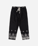 어썸 이미지네이션(AWESOME IMAGINATION) EMBROIDERY HEAVY WOOL BANDING PANTS _ Black
