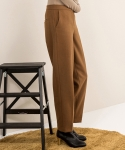 wool wide pants (camel)
