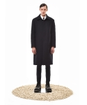 씨오엠이() APPLIQUED WOOL & QUILTED LINING COAT (NAVY)