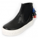슈보니에타(SHOBONYATA) UNIQUE BACK ZIPPER TASSEL BAND ANKLE SNEAKERS_HS4014