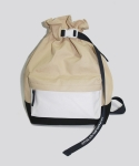 FLOW COATED CANVAS BUCKET BAG DESERT SAND