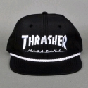 쓰레셔(THRASHER) ROPE SNAPBACK (BLACK/WHITE)