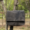 모노노() Wax Canvas Charcoal_Mail Bag