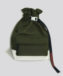 FLOW COATED CANVAS BUCKET BAG DEEPFOREST KHAKI