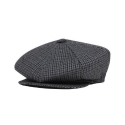 뉴욕 햇(NEW YORK HAT CO.) MINI CHECK NEWSBOY NAVY