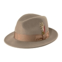 뉴욕 햇(NEW YORK HAT CO.) 5319 LITE FELT FEDORA (ALMOND)