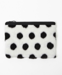 래피(LAPPY) Lovely dot fur clutchbag