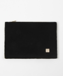Delicate wool clutchbag - black