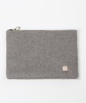 래피(LAPPY) Delicate wool clutchbag - gray