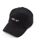 마치위드(MARCHWITH) WAKE UP SUEDE 5P CURVED CAP BLACK