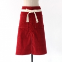 CORDUROY APRON (RED)
