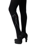 유니팝 레그웨어(UNIPOP LEGWEAR) Heart tree2 (Black)