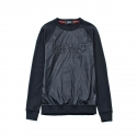 유터(IUTER) LEATHER CREWNECK BLACK