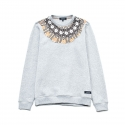 유터(IUTER) Jacquard Rosone Crewneck Sweatshirt LIGHT GREY