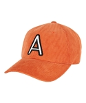 바잘(VARZAR) A point corduroy ball cap orange