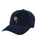 바잘() candy point corduroy ball cap navy