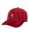 바잘() candy point corduroy ball cap wine