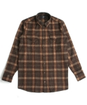 매닉(MANIC) WOOL BROWN CHECK SHIRTS