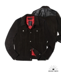 그랜드비전(GRANDVISION) RICH BLACK CALF HAIR TRUCKER JACKET