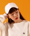 베이직코튼(BASIC COTTON) color logo cap - WHITE