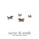 오뜨르 뒤 몽드(AUTOUR DU MONDE) DOG BONE EARRING