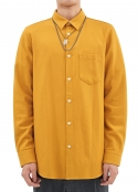 WOOL FLANNEL SHIRT YELLOW
