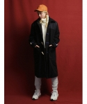 아카식레코드() Duffle long coat (Black)