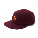 비블랙(BEBLACK) B.BLACK SPELLING B WOOL CAMP CAP_WINE