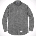 PIN DOT FLANNEL BUTTON DOWN (BLACK)