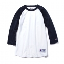챔피온() [인기재입고]17SS Champion Raglan Baseball T-shirts NAVY