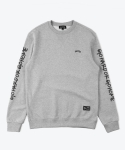 SHUTTER LETTERING SWEAT SHIRTS (GRAY)