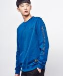 셔터(SHUTTER) SHUTTER LETTERING SWEAT SHIRTS (DEEP BLUE)