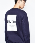 셔터(SHUTTER) SHUTTER COLORED SWEAT SHIRTS (DARK NAVY)