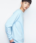 셔터(SHUTTER) SHUTTER PASTEL SWEAT SHIRTS (SKY BLUE)