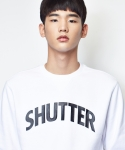 셔터(SHUTTER) SHUTTER 3M LOGO SWEAT SHIRTS (WHITE)