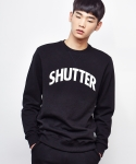 셔터(SHUTTER) SHUTTER 3M LOGO SWEAT SHIRTS (BLACK)