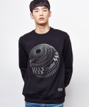 셔터(SHUTTER) SHUTTER SPHERE SWEAT SHIRTS (BLACK)