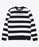 셔터(SHUTTER) SHUTTER STRIPE SWEAT SHIRTS (NAVY)
