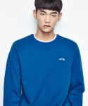 셔터(SHUTTER) SHUTTER NECK STRIPE SWEAT SHIRTS (DEEP BLUE)