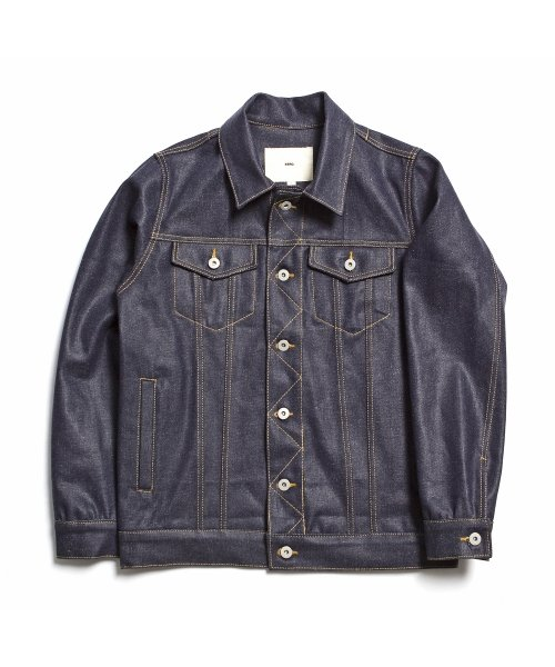 제로_13.5oz Coated Denim Jacket ″Indigo″