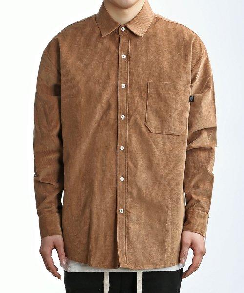 쟈니웨스트_Corduroy Over Shirts (Camel)