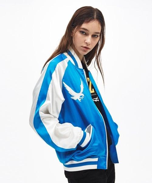 써틴먼스_16 ss sukajan jacket blue