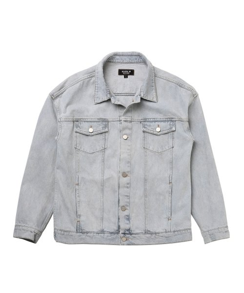 OVER SIZED ICE BLUE DENIM JACKET