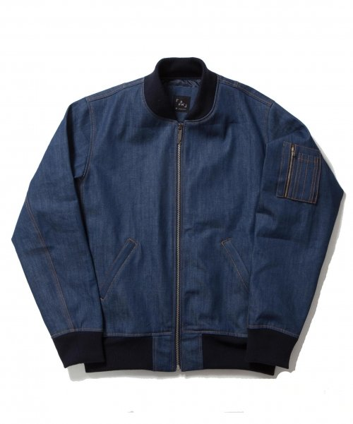 에이에프엠_DENIM BLOUSON ZIPUP JACKET