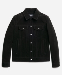러커즈(RUCKUZ) LEMMY Suede trucker jacket [BLACK]