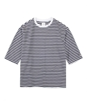 레이어 유니온(LAYER UNION) 3/4 SLEEVE STRIPE TEE WHITE