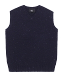 5g navy wool knit vest